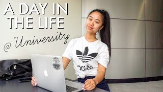 A DAY IN MY LIFE AT UNIVERSITY! | In Class & Campus Tour | THERESATRENDS