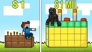 Minecraft: 1 DOLLAR CAKE VS 1,000,000 DOLLAR CAKE! (NOOB VS PRO CAKE BULD BATTLE!) Mini-Game