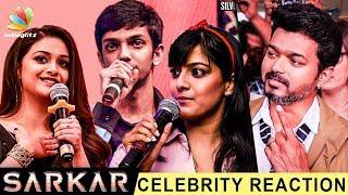 'Sarkar' Official Teaser – Celebrities Reactions | Vijay, Anirudh | Latest Tamil Movie Trailer