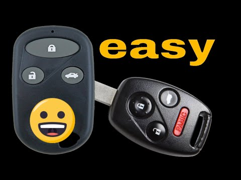 How to program Honda Civic Hybrid keyless entry remote control Fob FCC ID:NHVWB1U523