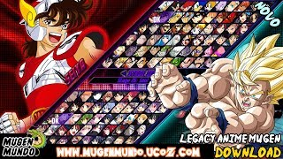 SAIU! LEGACY ANIME MUGEN - DBZ, ONE PIECE, BLEACH, SWORD ART ONLINE, INUYASHA (DOWNLOAD)