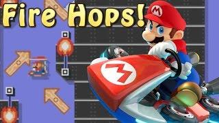 Super Mario Maker Level Showcase - Mario Kart Fire Hop, Demon Slide