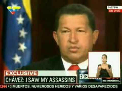 Larry King entrevista a Hugo Rafael Chávez Frías presidente de Venezuela 3/4