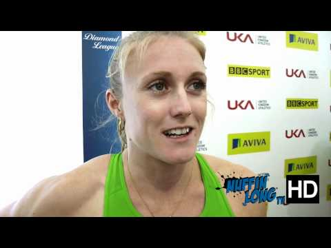 Sally Pearson Interview at London IAAF Diamond League Crystal Palace 2011 (Full HD)