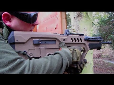 Airsoft War AK47. M4. Tar-21. SA58. L86 NCIS Scotland HD