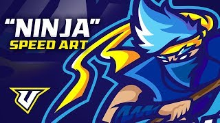 """Ninja"" Logo/Design Speed Art"
