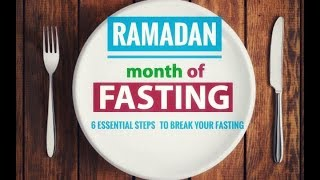 6 ESSENTIAL steps to break your fast during Ramadan | WEIGHTLOSS DIET Ramzan | How to lose weight