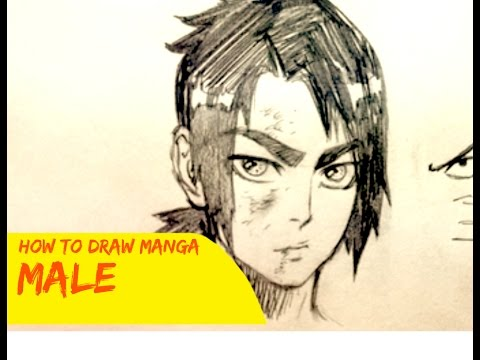How To Draw Manga: Male Character (Narrated Tutorial)