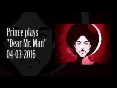 Prince plays dear mr man 04 03 2016