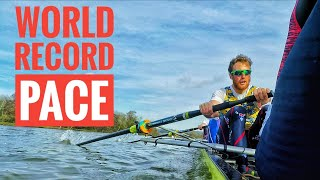 WORLD RECORD PACE ROWING IN AN EIGHT