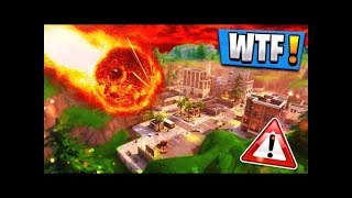 THE COMET HITS TILTED TOWERS TODAY - FORTNITE LIVE STREAM