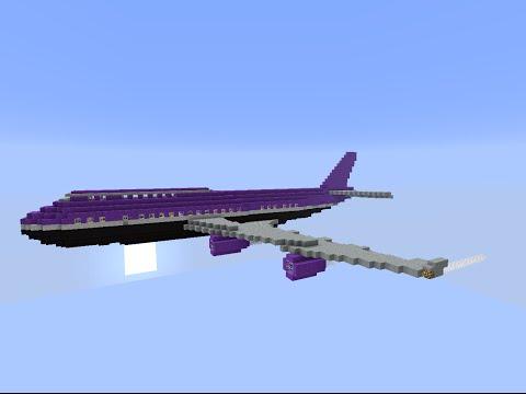 Как сделать работающий самолет в Minecraft без модов!