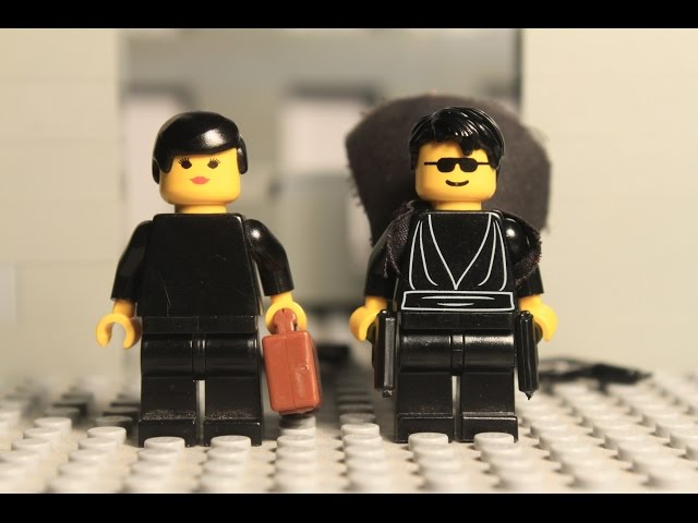 Lego Matrix Lobby Fight Scene