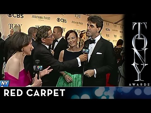 2014 Tony Awards - Red Carpet - Jason Robert Brown and Georgia Stitt