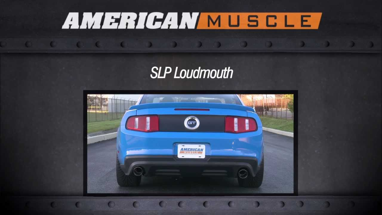 Mustang Slp Loudmouth Axle Back Exhaust 11 12 Gt Gt500