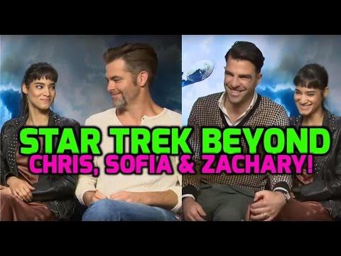 STAR TREK BEYOND: Zachary Quinto, Chris Pine & Sofia Boutella want to upgrade the Enterprise