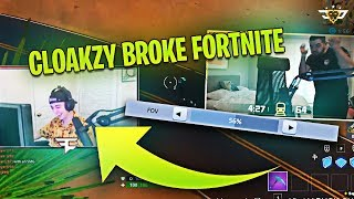 CLOAKZY BROKE FORTNITE?! NEVER BEEN SEEN FOV SLIDER LOL! (Fortnite: Battle Royale)