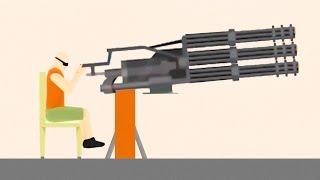 WORLD'S BIGGEST GUN EVER! (Happy Wheels)