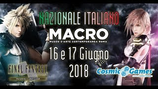 2018 Final Fantasy TCG National Tournament in Rome - Italy
