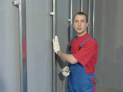Видео как обшить стены гипсокартоном