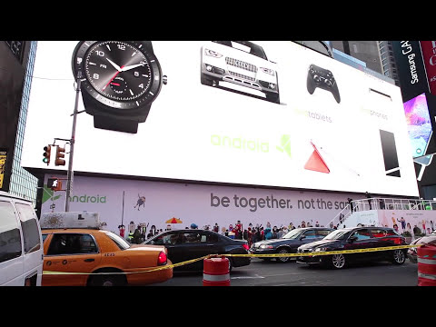 Google's HUGE billboard in Times Square