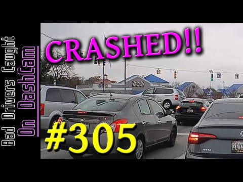 Bad Drivers Dashcam Compilation #305 - ROAD RAGE, Stupidity and People Getting Honked At