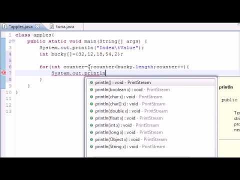 Java Programming Tutorial - 28 - Creating an Array Table