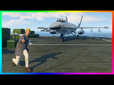 GTA ONLINE AIRCRAFT CARRIER FREE MODE EXPLORATION, UNLIMITED FIGHTER JETS & SECRET SPOTS! (GTA 5)
