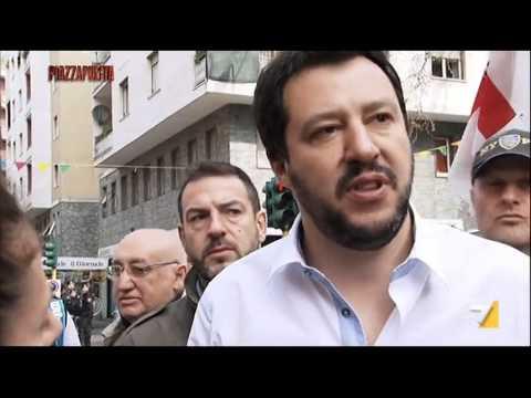 """Salvini: """"Renzi è un tarocco e un taroccatore"""""""