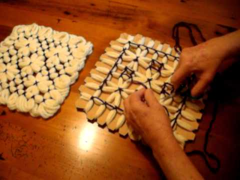 Crochet Loom : Butterfly Loom Magic Board Pattern 3.AVI - YouTube
