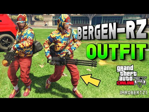 GTA 5 Online Run and Gun Outfit Tutorial BERGEN RZ! Best RnG Modded Clothing (GTA 5 Glitches)