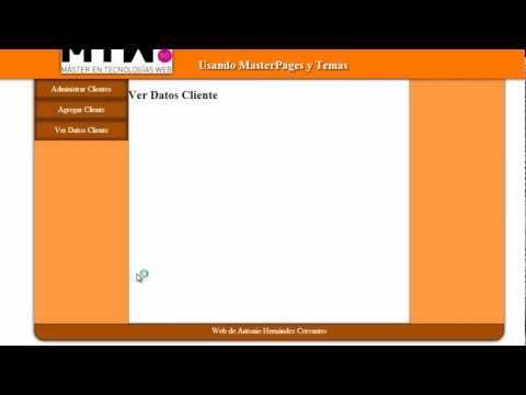 Videotutorial Maquetación y Diseño Web en ASP.NET (Usando MasterPages Anidadas y Temas)