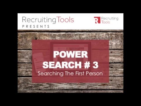 Boolean Power Search #3 Searching in the First Person