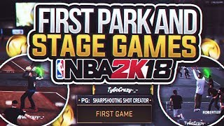 FIRST PLAYGROUND AND STAGE GAMES IN NBA 2K18!🔥 GREENLIGHT JUMPSHOT W/ MY DEMIGOD! STAGE GOD FOR VC!