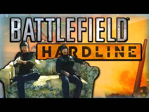 Battlefield Hardline Funny Moments - EPIC Dirtbike Launches, Drivable Couch Fun, and More!