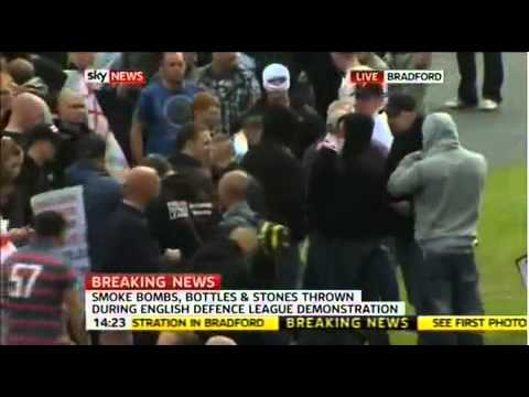 edl scum attack each other in bradford
