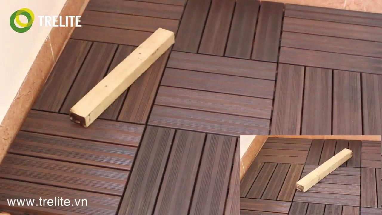 Sàn tre cao cấp TRELIFE - Thí nghiệm test chỉ số chống va đập của gạch tre ngoài trời