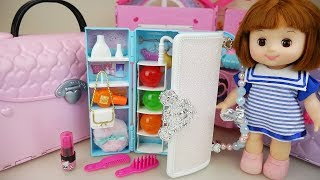 Baby doll Hand bag closet and surprise eggs toys play