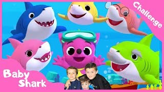 Baby Shark kid song challenge  Pinkfong sing and dance