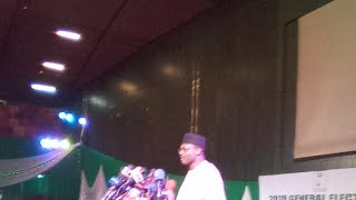 Nigeria 2019 Election Briefing By INEC Chaiman In Abuja