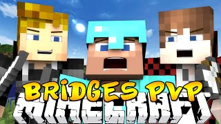 "Minecraft BRIDGES PVP ""DESTROYING FULL DIAMOND GUY"" w/Kenny & Friends!"