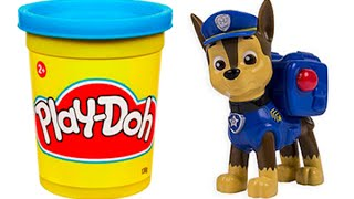 Play Doh Paw Patrol STOP MOTION - Surprise Eggs Peppa Pig Español Toys Kinder Egg Frozen Olaf