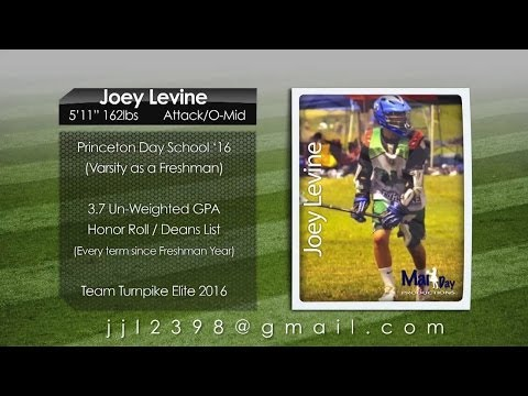 Joey Levine 2013 Lacrosse Highlights- Princeton Day School '16