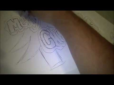 how to draw merry christmas in bubble letters