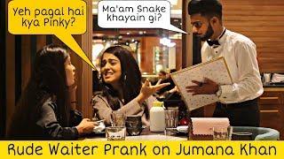 Waiter Prank on Jumana Khan - Tik Tok Celebrity   Prank in Dubai