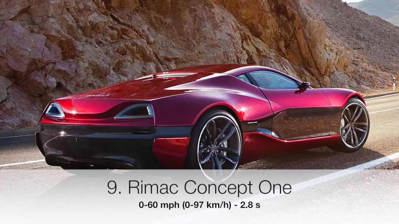 10 Fastest Accelerating Production Cars 2014 0 60 Youtube