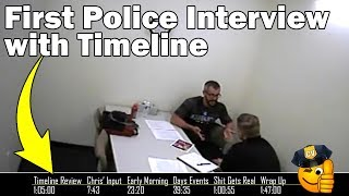 Chris Watts FULL 1st police interview (with timeline) the day after he murdered his family 8-14-18