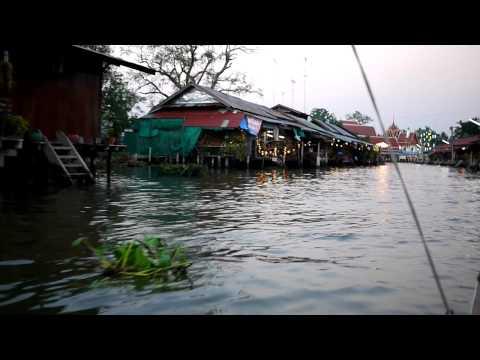 [曼谷 Bangkok] 河岸風光:安帕瓦水上市場 Amphawa Floating Market 2
