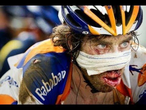 Tour Of Flanders 2014 Crash Johan Hits Spectator Accidentally.