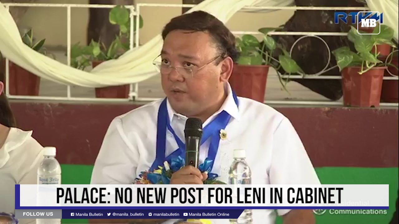 Palace: No new post for Leni in Cabinet